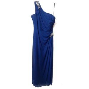 Dresses & Skirts - Royal Blue One-Shoulder Lined Prom Dress